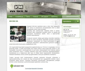 KMCNC Kft. Cégbemutató Weblapja